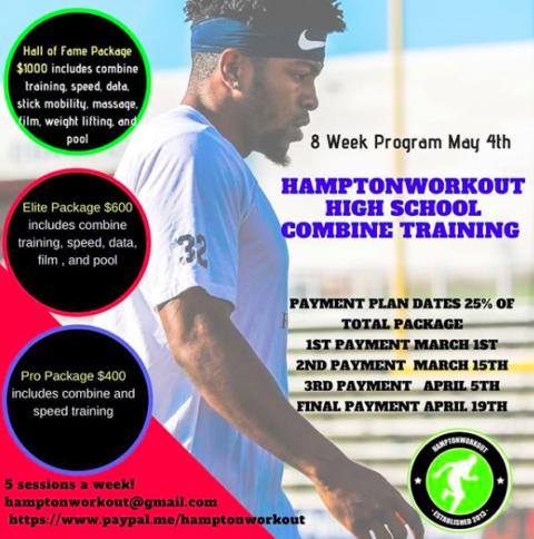 HamptonWorkout High School Combine Training